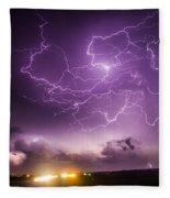 Late July Storm Chasing 088 Fleece Blanket