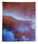 Late Night Nebraska Shelf Cloud 007 Fleece Blanket