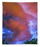 Late Night Nebraska Shelf Cloud 010 Fleece Blanket