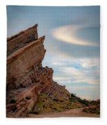 Late On Vasquez Rocks By Mike-hope Fleece Blanket