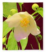 Late Spring Flower Fleece Blanket