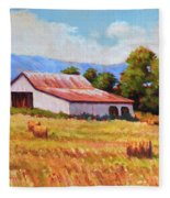 Late Summer Hay Fleece Blanket