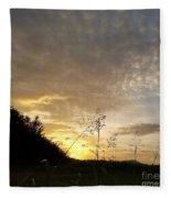 Late Summer Morning Fleece Blanket