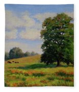 Late Summer Pastoral Fleece Blanket