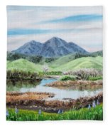 Late Winter In California Fleece Blanket