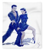 Latin Ballroom Fleece Blanket