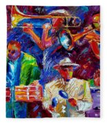 Latin Jazz Fleece Blanket