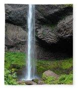 Latourell Falls, Oregon Fleece Blanket