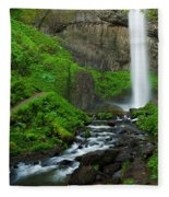 Latourell Falls Oregon Fleece Blanket