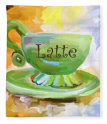 Latte Coffee Cup Fleece Blanket