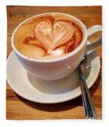 Latte Love Fleece Blanket