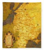 Latvia And Lithuania Fleece Blanket