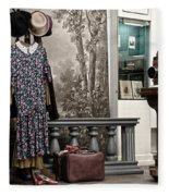 Latvian Photo Studio In The Beginning Of The 20th Century Fleece Blanket