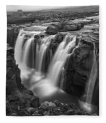 Laugafell Mountain Lodge Waterfalls 3155 Fleece Blanket