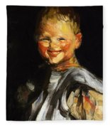Laughing Child 1907 Fleece Blanket