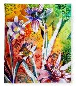 Laughing Flowers Fleece Blanket