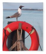 Laughing Gull At Lewes Fleece Blanket