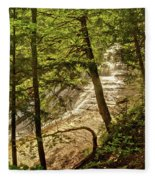 Laughing Whitefish Falls 2 Fleece Blanket
