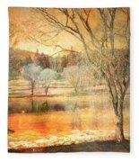 Laughter Amongst Trees Fleece Blanket