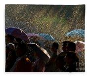 Laughter In The Rain Fleece Blanket