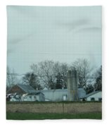 Laundry Day At The Dairy Farm Fleece Blanket