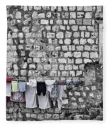 Laundry Line - Dubrovnik Croatia #3 Fleece Blanket