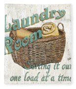 Laundry Room Sorting It Out Fleece Blanket