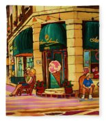 Laura Secord Candy And Cone Shop Fleece Blanket