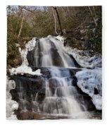 Laurel Falls In Gatlinburg Tennessee Fleece Blanket