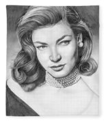 Lauren Bacall Fleece Blanket