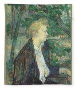 lautrec gabrielle 1891 Henri De Toulouse-Lautrec Fleece Blanket