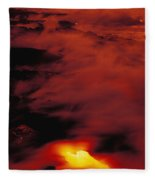 Lava At Dawn Fleece Blanket