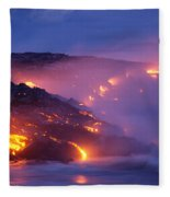 Lava At Twilight Fleece Blanket