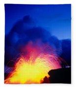 Lava Explodes Fleece Blanket