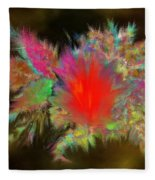 Lava Explosion Fleece Blanket