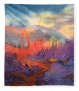Lava Flow Abstract Fleece Blanket