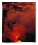 Lava Flow Fleece Blanket