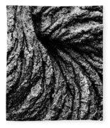 Lava Patterns - Bw Fleece Blanket