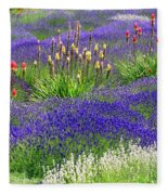 Lavender And Flowers Oh My Fleece Blanket