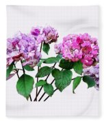Lavender And Rose Hydrangeas Fleece Blanket