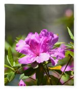 Lavender Rhododendrun Fleece Blanket