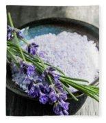 Lavender Bath Salts In Dish Fleece Blanket