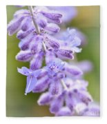 Lavender Blooms Fleece Blanket