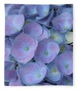 Lavender Blue Hydrangea Fleece Blanket