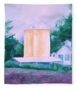 Lavender Farm Albuquerque Fleece Blanket