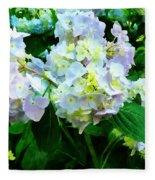 Lavender Hydrangea In Garden Fleece Blanket