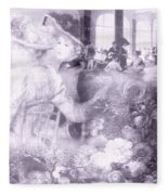 Lavender Ladies Fleece Blanket