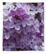 Lavender Lilacs Fleece Blanket