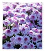 Lavender Mums Fleece Blanket