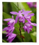 Lavender Orchid Fleece Blanket